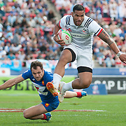 Teams compete in Saturday pool stage play of the 2019 USA Sevens at Sam Boyd Stadium in Las Vegas, Nevada. USA. March 2, 2019.<br /> <br /> Jack Megaw. All Rights Reserved.