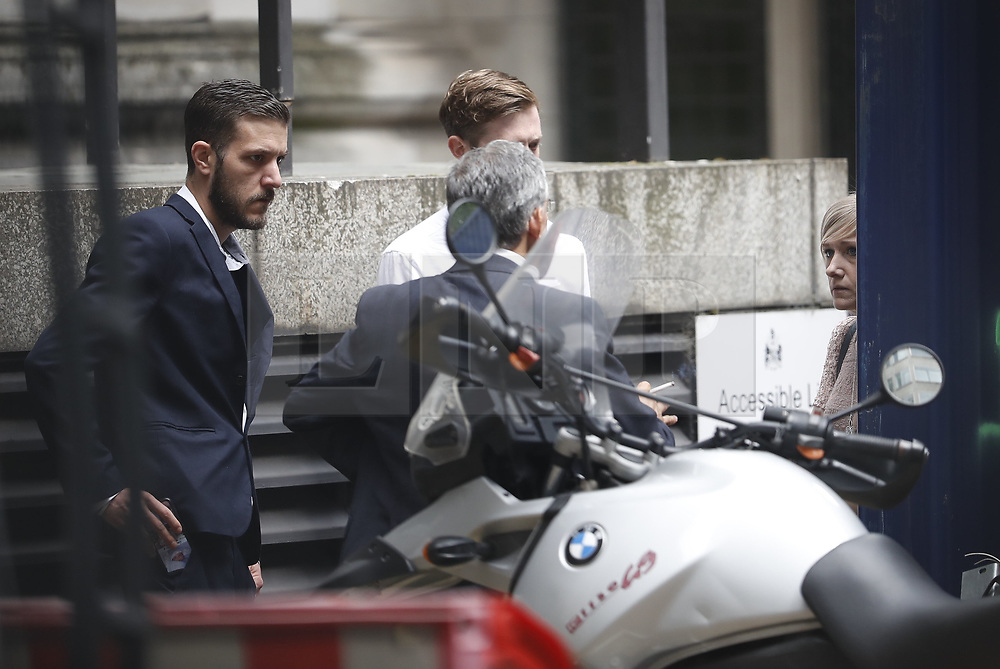 © Licensed to London News Pictures. 13/07/2017. London, UK. Connie Yates and <br /> Chris Gard are seen outside at The High Court after disagreeing with the judge. The parents of terminally ill Charlie Gard have returned to the High Court in light of new evidence relating to potential treatment for their son's condition. An earlier lengthy legal battle ruled that Charlie could not be taken to the US for experimental treatment. London, UK. Photo credit: Peter Macdiarmid/LNP