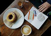 London, breakfast in Shoreditch, capuccino