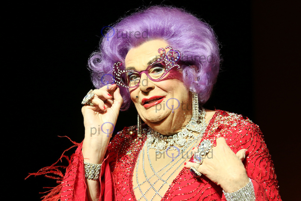 Dame Edna Everage in Barry Humphries Farewell Tour, The London Palladium, London UK, 13 November 2013, Photo by Richard Goldschmidt
