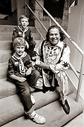 Chief Noc-A-Homa - Levi Walker with Cub Scouts at an October 1983 Atlanta Braves game.