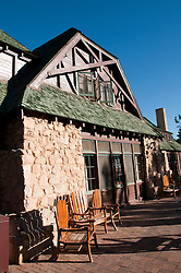 USA, Utah, historic lodge called The Lodge in Bryce Canyon National Park.