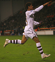 Photo: Steve Bond.<br /> Sheffield United v Arsenal. Carling Cup. 31/10/2007. Denilson heads off to celebrate