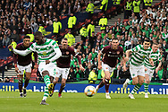 Odsonne Edouard steps up and places the ball comfortably in the beyond the hearts Keeper Zdenek Zlamal during the William Hill Scottish Cup Final match between Heart of Midlothian and Celtic at Hampden Park, Glasgow, United Kingdom on 25 May 2019.