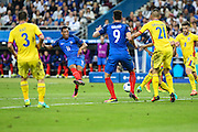 SAINT-DENIS, FRANCE, 06.10.2016 - FRANCE-ROMANIA - Anthony Martial (11) of France During bid against Romania in a match valid for the 1st round of Group A of Euro 2016 in the Stade de France in Saint-Denis, Friday (10).