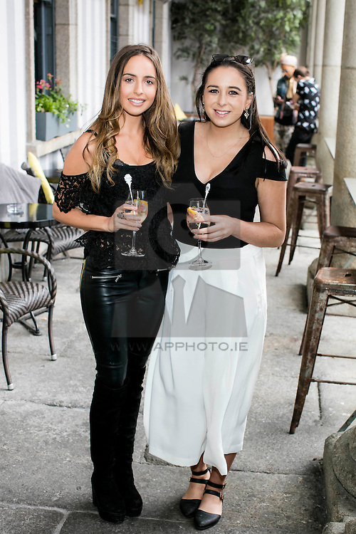 Repro Free: 21/05/2016  Liadh Timmons and Lorna McGinn pictured enjoyed a Belvedere Spritz at Dublin's second LOVE BRUNCH, which was held in The Odeon Dublin.  On the day, guests enjoyed music, antics and a selection of delicious Belvedere Spritz cocktails. Picture Andres Poveda