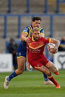 Rugby League - 2020 Super League - Round 13 - Warrington Wolves vs Catalan Dragon<br /> <br /> Catalans Dragons's Sam Tomkins is tackled,   at the Halliwell Jones Stadium, Warrington<br /> <br /> <br /> COLORSPORT/TERRY DONNELLY