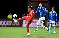 Fotball, 20. oktober  2019 , Eliteserien , Sarpsborg - Brann 1-1<br /> Kyle Lafferty , Sarpsborg , <br /> Bismar Acosta , Brann