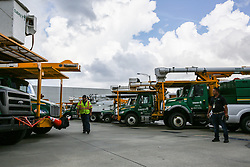 Electrical utilities crews prepare for the incoming Hurricane Irma at Orlando Utilities Commission on September 8, 2017. Photo byAileen Perilla/Orlando Sentinel/TNS/ABACAPRESS.COM