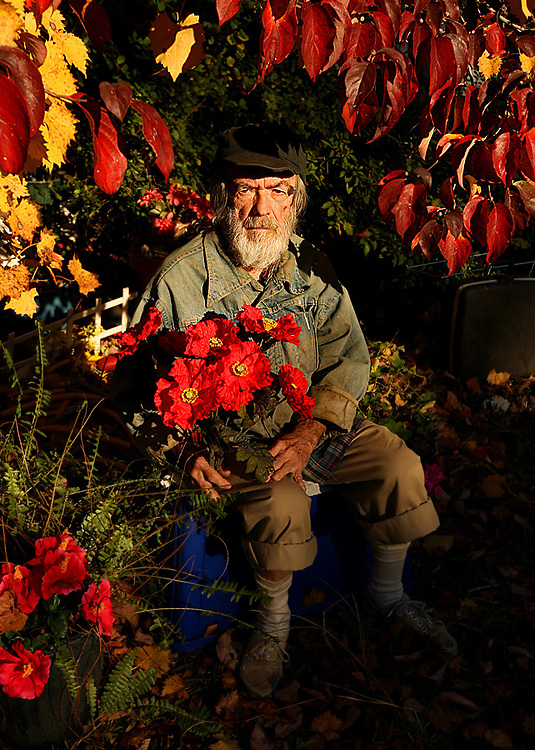 """Julian Wise, 82, is a recluse who loves his artificial flowers. He's lived in the same house for over 70 years. Wise doesn't have children and has never been married and wouldn't have it any other way. 06casle01 """"Julian"""""""