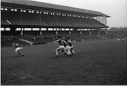 10/09/1967<br /> 09/10/1967<br /> 10 September 1967<br /> Junior Hurling 'Home' Final: Kerry v Wicklow at Croke Park, Dublin. <br /> Kerry forwards on the attack.