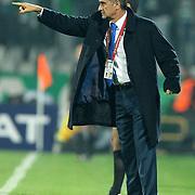 Trabzonspor's coach Senol GUNES during their Turkish soccer superleague match Bursaspor between Trabzonspor at Ataturk Stadium in Bursa Turkey on Saturday, 22 October 2011. Photo by TURKPIX