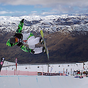 Xuetong Cai, China, in action during the Women's Half Pipe Qualification in the LG Snowboard FIS World Cup, during the Winter Games at Cardrona, Wanaka, New Zealand, 27th August 2011. Photo Tim Clayton..