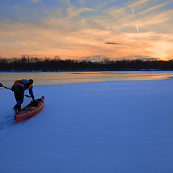 Paddling the Frozen Potomac in Winter