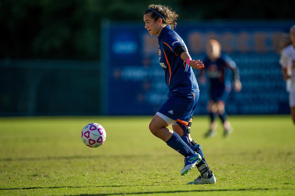 Oct 23, 2013; Morrow, GA, USA; Clayton State women's soccer player Meghan Marvinny against Georgia Southwestern at CSU. CSU won 4-0. Photo by Kevin Liles/kevindliles.com