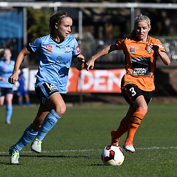 BRISBANE, AUSTRALIA - OCTOBER 30: Georgia Yeoman-Dale of Sydney dribbles the ball during the round 1 Westfield W-League match between the Brisbane Roar and Sydney FC at Spencer Park on November 5, 2016 in Brisbane, Australia. (Photo by Patrick Kearney/Brisbane Roar)