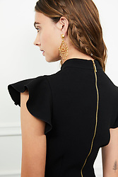 """Rachel Zoe releases a photo on Twitter with the following caption: """"""""Gold and braids, two things we'll never not be obsessed with. Shop the Parma dress and Makayla earrings at https://t.co/VmohXLyvdv 💕"""""""". Photo Credit: Twitter *** No USA Distribution *** For Editorial Use Only *** Not to be Published in Books or Photo Books ***  Please note: Fees charged by the agency are for the agency's services only, and do not, nor are they intended to, convey to the user any ownership of Copyright or License in the material. The agency does not claim any ownership including but not limited to Copyright or License in the attached material. By publishing this material you expressly agree to indemnify and to hold the agency and its directors, shareholders and employees harmless from any loss, claims, damages, demands, expenses (including legal fees), or any causes of action or allegation against the agency arising out of or connected in any way with publication of the material."""