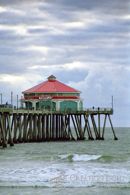 Delicious Food including shakes are to be found at the Ruby's Diner the the end of the Huntington Beach Pier in Southern California