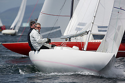 International Dragon Class Scottish Championships 2015.<br /> <br /> Day 1 racing in perfect conditions.<br /> <br /> GBR791, CHRISTIANNA, Oliver Morgan, RORC\<br /> <br /> <br /> Credit Marc Turner