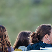 Teten Science Schools tour participants watch a herd of elk forage in the early morning hours. (Maura Bushior, Katie-Cloe Stock, Tracy Logan)