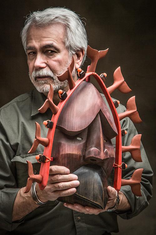 Alutiq master carver, Perry Eaton, Anchorage