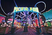 Pacific Park Entrance | An Evening at Santa Monica Pier, Los Angeles, California, USA