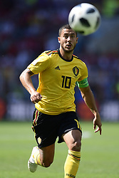June 23, 2018 - Moscou, Russie - MOSCOW, RUSSIA - JUNE 23 : Eden Hazard midfielder of Belgium in action during the FIFA 2018 World Cup Russia group G phase match between Belgium and Tunisia at the Spartak Stadium on June 23, 2018 in Moscow, Russia, 23/06/2018 (Credit Image: © Panoramic via ZUMA Press)
