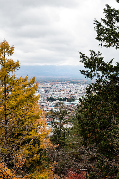 View looking out towards Mount Fuji, if it wasn't covered in cloud...