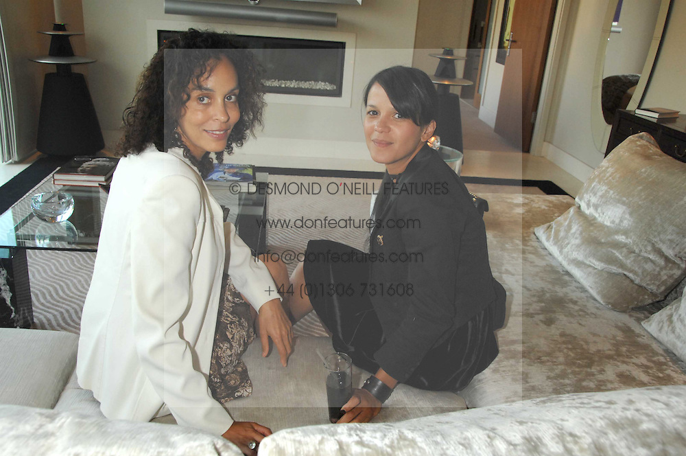 Left to right, JEANETTE CALLIVA and LISA MOORISH at a party to celebrate the publication of 'All That Glitters' by Pearl Lowe held at the May Fair Hotel, London on 8th July 2007.<br /><br />NON EXCLUSIVE - WORLD RIGHTS