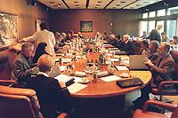 19 MAY 1999 - BONN, GERMANY:<br /> Übersicht Kabinettsitzung, Bundeskanzleramt<br /> IMAGE: 19990519-01/01-22<br /> KEYWORDS: Kabinett