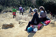 lunch break during a hike Japan Kamakura