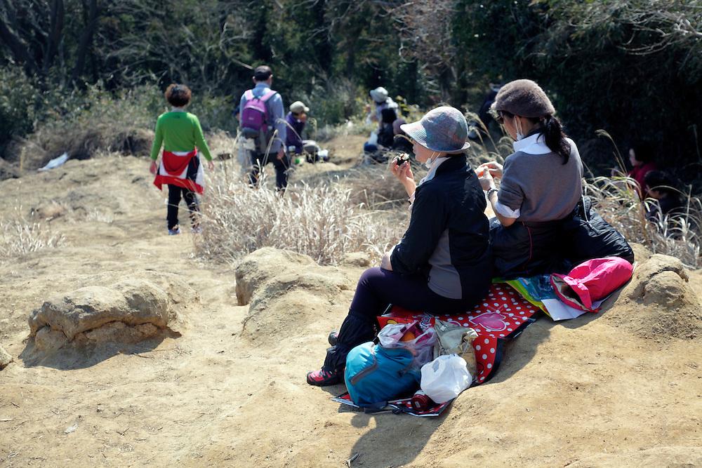 lunch break during a hike Japan Kamakura