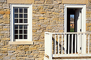 Window and door at the commandants residence, Fort Snelling State Park, Minneapolis, Minnesota