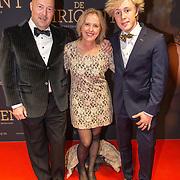 NLD/Amsterdam/20181023 -  Film premiere De Dirigent, Stef Collignon met zijn gezin