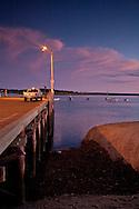 Viewing sunset on the L pier, Wellfleet Harbor