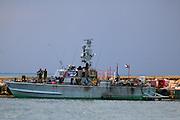 Israeli navy patrol boat in harbour