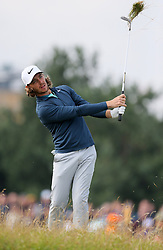England's Tommy Fleetwood chips from the rough during day three of The Open Championship 2017 at Royal Birkdale Golf Club, Southport.