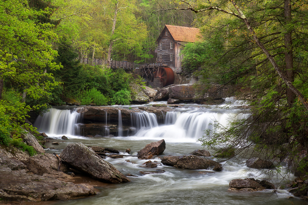 """Babcock Grist Mill - Glade Creek<br /> <br /> Available sizes:<br /> 11"""" x 14"""" print <br /> <br /> See Pricing page for more information. Please contact me for custom sizes and print options including canvas wraps, metal prints, assorted paper options, etc. <br /> <br /> I enjoy working with buyers to help them with all their home and commercial wall art needs."""
