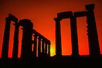 Temple of Poseidon, Cape Sounion, Attica Peninsula, near Athens, Greece