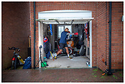 Super heavyweight boxer Frazer Clarke training  at his home on the 2nd October 2020 in Burton on Trent in the United Kingdom.