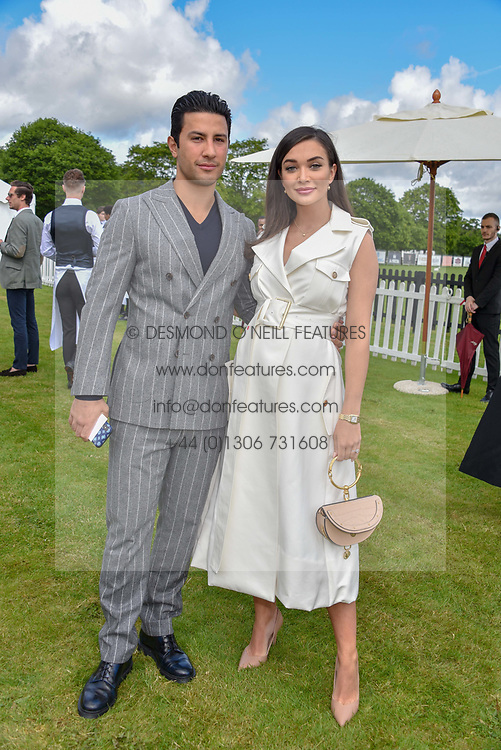 Amy Jackson and George Panayiotou at the Cartier Queen's Cup Polo 2019 held at Guards Polo Club, Windsor, Berkshire. UK 16 June 2019 - <br /> <br /> Photo by Dominic O'Neill/Desmond O'Neill Features Ltd.  +44(0)7092 235465  www.donfeatures.com