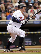 MINNEAPOLIS - APRIL 23:  Jim Thome #25 of the Minnesota Twins bats against the Cleveland Indians on April 23, 2011 at Target Field in Minneapolis, Minnesota.  The Twins defeated the Indians 10-3.  (Photo by Ron Vesely)  Subject:  Jim Thome