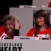NLD/Hilversum/20100121 - Benefietactie voor het door een aardbeving getroffen Haiti, Lauren Verster en Saskia Elise