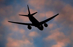 Embargoed to 0001 Saturday May 20 File photo dated 20/12/16 of a plane taking off from London Stansted Airport in Essex. More than a quarter of flights to UK airports are delayed, new figures show.