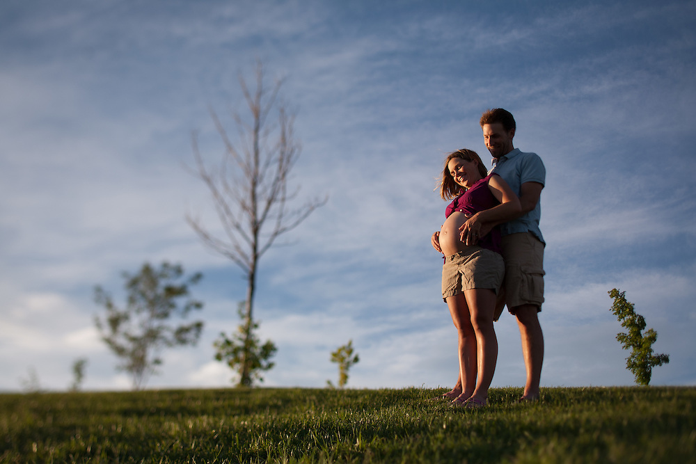 Mike and Alisa, maternity photo, my niece, not yet named