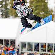 Japanese National Snowboard Team member Shiho Nakashima competes in the finals at the 2009 LG Snowboard FIS World Cup at Cypress Mountain, British Columbia, on February 16th, 2009. Fujita finished 12th in a field of 45.