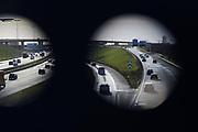 Snelweg bij Den Haag richting Delft en Rotterdam | Motorway at The Hague towards Delft and Rotterdam