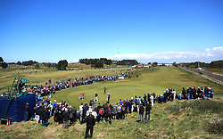 General view as fans watch England's Tommy Fleetwood on the 7th green during day three of the Betfred British Masters at Hillside Golf Club, Southport.
