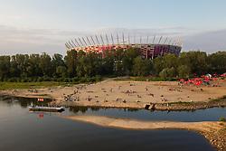 07-06-2012 VOETBAL: FANZONE EURO 2012 WARSAW: POLAND<br /> National football stadium in Warsaw a day before the beginning of Euro 2012 Poland-Ukraine<br /> ***NETHERLANDS ONLY***<br /> ©2012-FotoHoogendoorn.nl/Vid Ponikvar