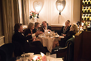 Nicky Haslam hosts dinner at  Gigi's for Leslie Caron. 22 Woodstock St. London. W1C 2AR. 25 March 2015